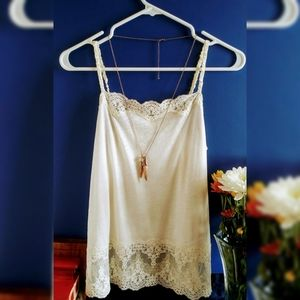 American Eagle Outfitters Cream Lace Cami